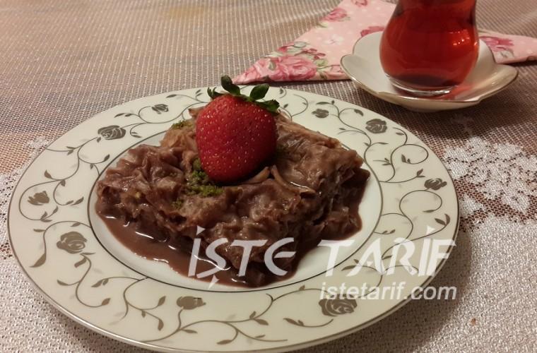 çikolatalı güllaç 1