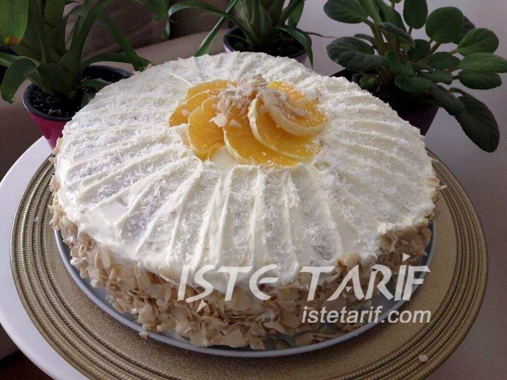 Portakallı Kandil Pastası Tarifi 6
